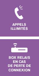 Appels Illimités + Box Relais en cas de perte de connexion